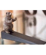 Brass Grizzly Bear Animal Door Stop, 6 1/2 Inch - $31.00