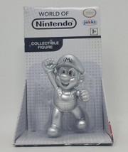 World of Nintendo Super Mario Bros. Silver Metal Jakks Pacific Figure - $14.79