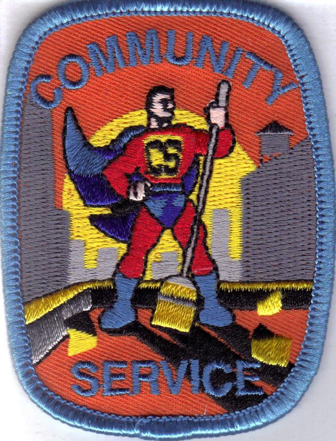 Community service patch