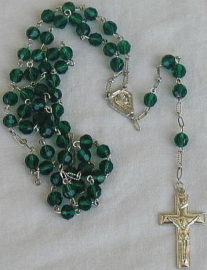 Green rosary p