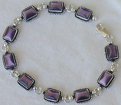 Purple sqaure bracelet