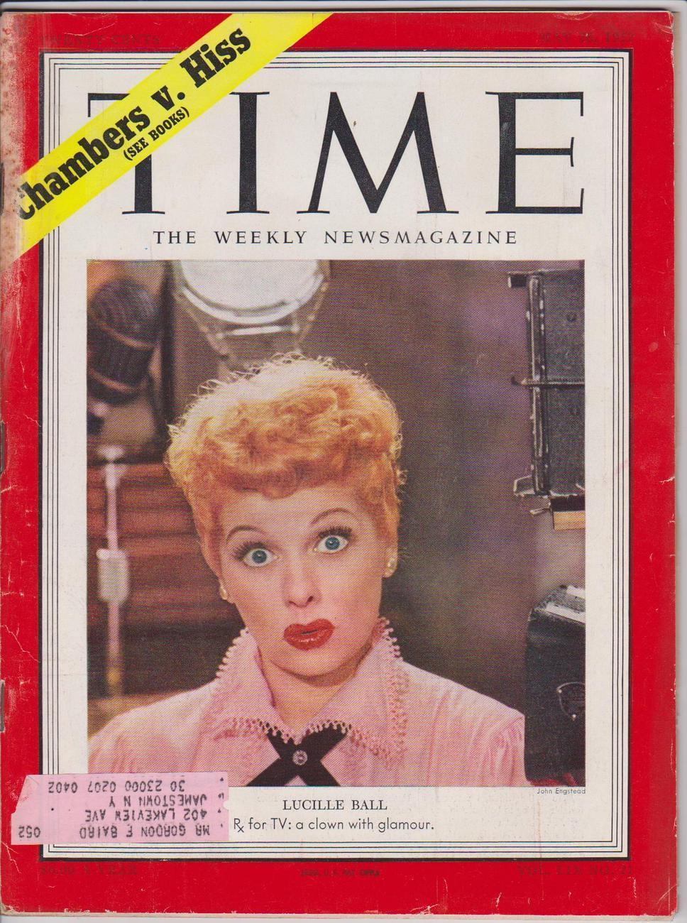 Time Magazine I Love Lucy MAY 26 1952 Lucille Ball Cover