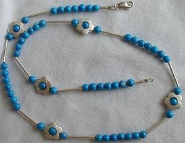 Turquoise flowers necklace 1 thumb200