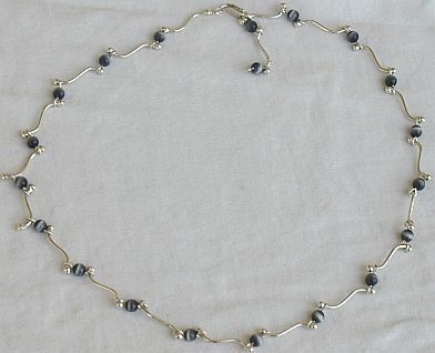 Gray cat eye necklace