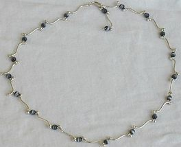 Gray cat eye stones necklace - $35.00