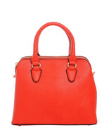 Classic Solid Color Top Handle Handbag Purse w/ Shoulder Strap Crimson - $43.55