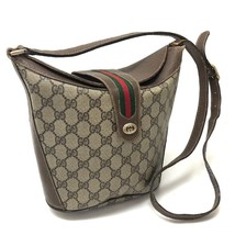 AUTHENTIC GUCCI Old Gucci GG Plus Pochette Shoulder Bag PVC/Leather 904・... - $5.957,46 MXN