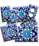 MEXICAN TALAVERA TILE INSPIRED LIGHT SWITCH OUTLET PLATES KITCHEN FOLK A... - $10.99+