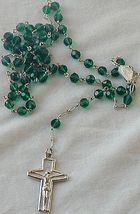 Dark green rosary - $24.00