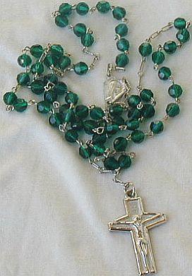 Dark green rosary