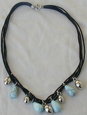 Primary image for Turquoise and silver necklace