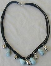 Turquoise and silver necklace thumb200