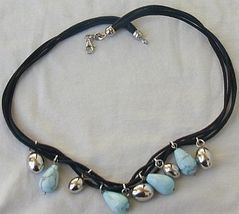 Turquoise and silver necklace 3 thumb200