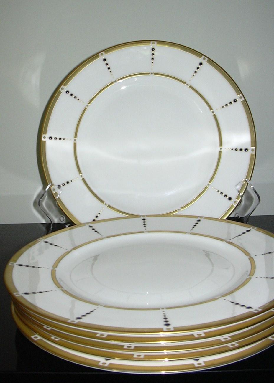 Lenox Sapphire Sophisticate Set of 6 Dinner Plates *New & Stunning***