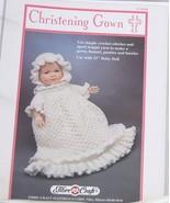 Fibre Craft  Christening  Gown  Crochet Pattern - $6.50