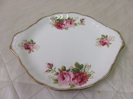 Royal Albert American Beauty Regal Tray Cake Cookie Plate Roses - $15.19