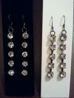 Dangle cz earrings