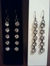 Dangle cz earrings - $12.00