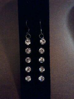 Dangle cz earrings image 2