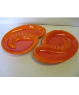 Haeger Pottery Mandarin Orange Ashtrays (2)  #513 USA - $42.99