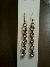 Dangle cz earrings image 3