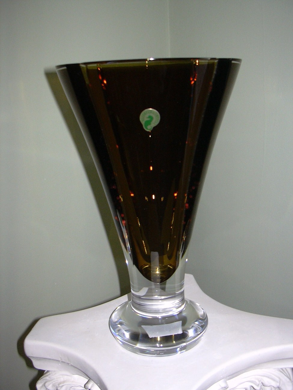 "Waterford 13"" Olive Green  Vase ***Stunning***"