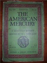 1926 AMERICAN MERCURY August Vol 8 No. 32 E. L.... - $15.00