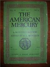 1927 AMERICAN MERCURY May Vol 11 No. 41 SHER. A... - $15.00