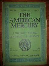 1926 AMERICAN MERCURY march Vol 7 No. 27 H. L. MENCKEN - $15.00