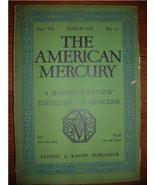 1926 AMERICAN MERCURY march Vol 7 No. 27 H. L. MENCKEN - $15.00