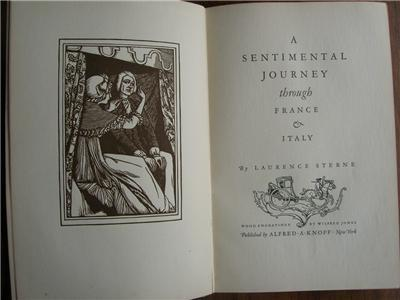 1925 STERNE A Sentimental Journey Illustrated 1/2000
