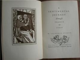 1925 STERNE A Sentimental Journey Illustrated 1/2000 - $25.00