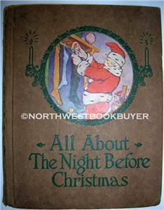 1918 ALL ABOUT NIGHT BEFORE CHRISTMAS Illustrated Hall