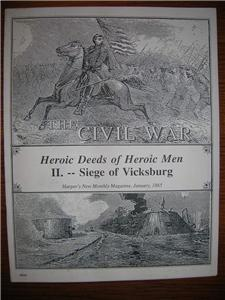 CIVIL WAR Siege of Vicksburg Harper's Magazine 1865