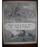 CIVIL WAR Siege of Vicksburg Harper's Magazine 1865 - $10.00