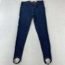 Encore Jeans Juniors Size 15 Blue Straight Leg Mid Rise Stirrup Pants - $18.95
