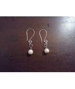 Silver and pearl earrings small - $7.00
