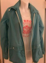 WHITE STAG blue windbreaker 4 Seasons med zipper nylon jacket 1980s ski ... - $24.77