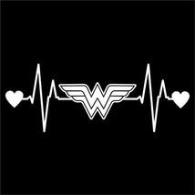 Wonder Woman Heartbeat Vinyl Decal Sticker | Cars Trucks Vans Walls Laptops - $11.19
