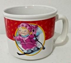 USA Winter Olympics 2002 Salt Lake City Campbells Soup Mug Snow Skier Gi... - $9.28