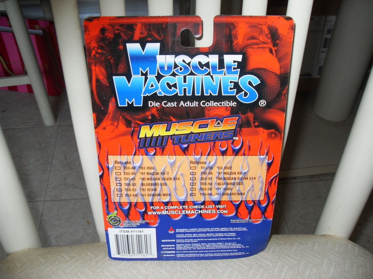 2003 Muscle Machines 97 Mazda RX 7 In Package
