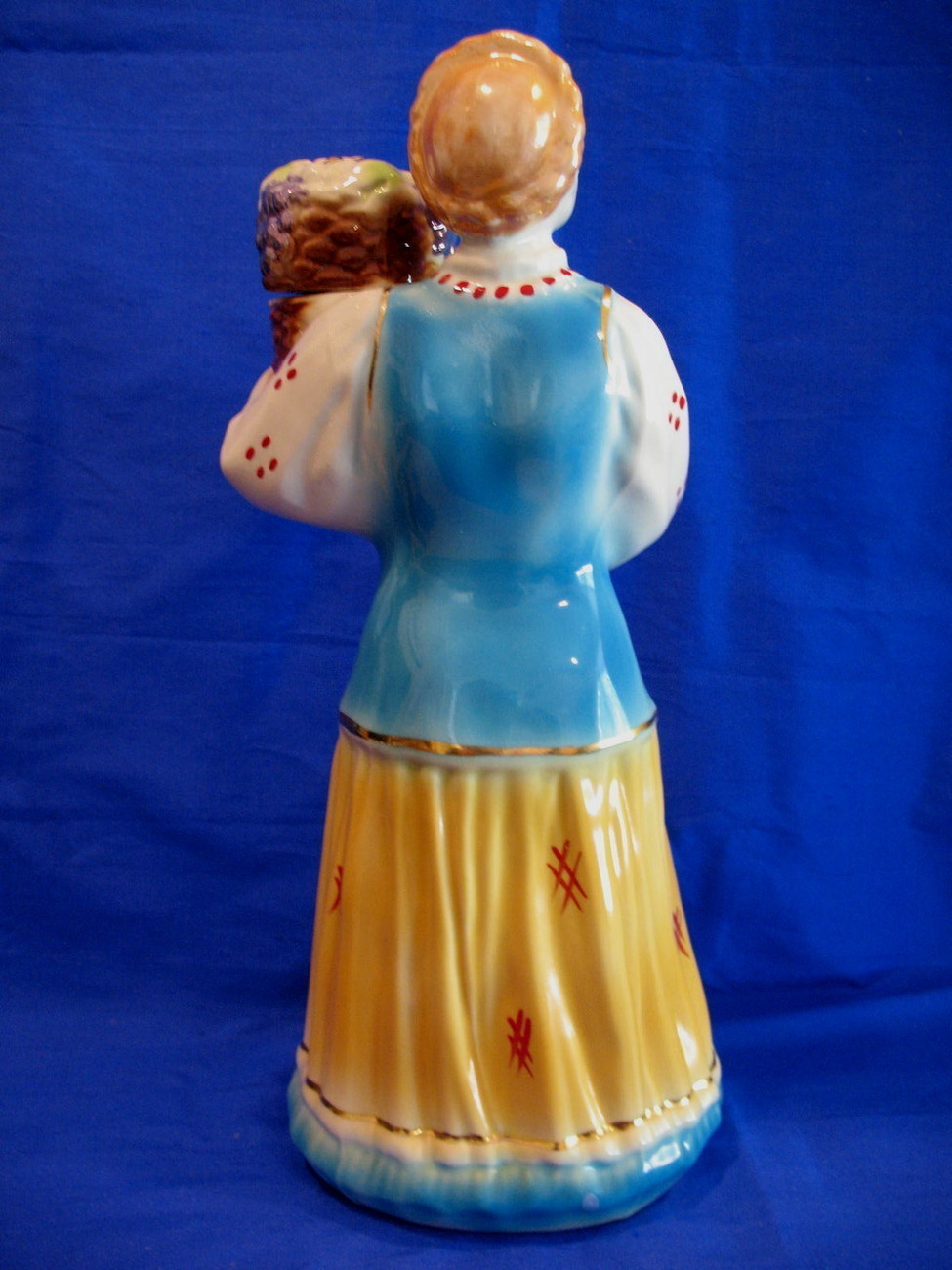 Vintage Russian Vodka Decanter Barware Collector Old Russia Baba Woman Souvenir