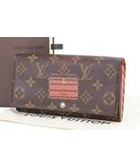 Authentic LOUIS VUITTON Trunks and Locks Sarah Long Wallet Monogram #25911 - $459.00