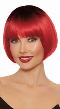 Dreamgirl Dip Dye Rojo Corto Peluca Bob Gótico Devil Accesorio Traje Hal... - £11.82 GBP