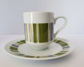 Mikasa Coffee Set Tea Cup & Saucer Accent Tropicana 5588 60s Fine China ... - $12.60