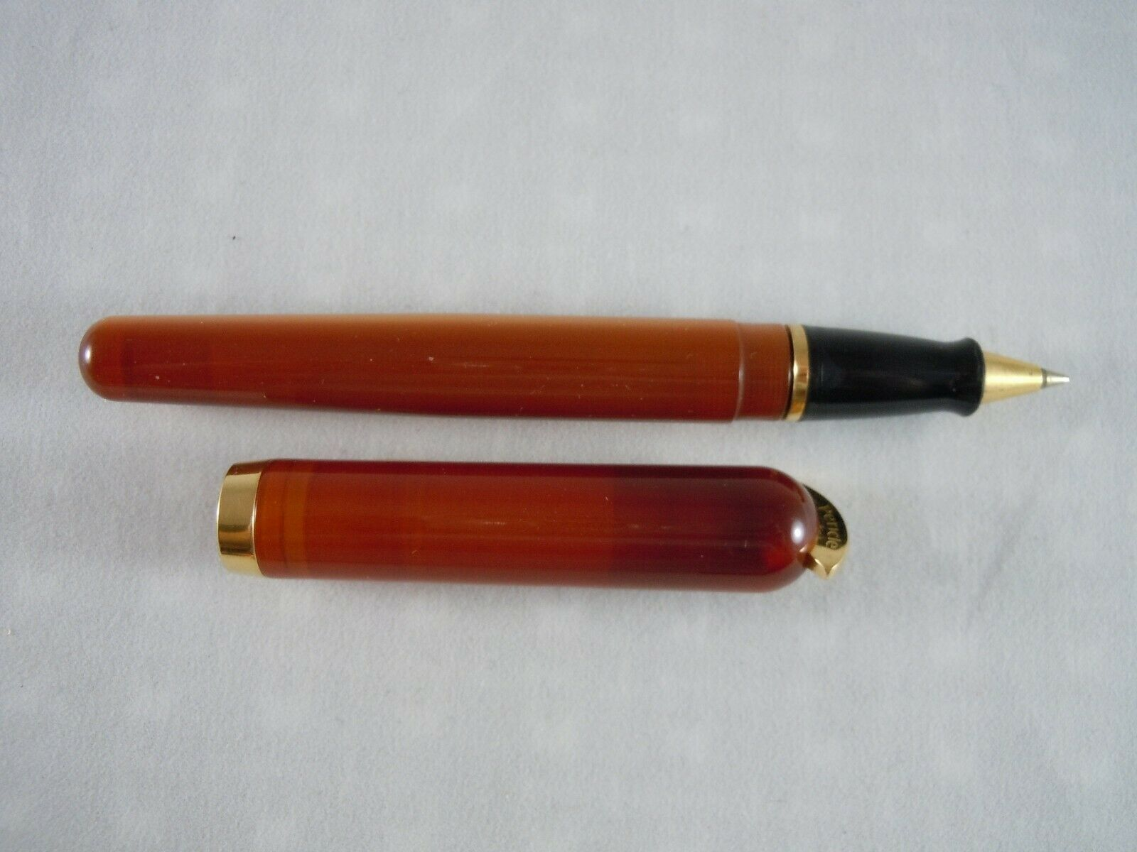 Visconti Amber Pericle Convertible Rollerball Pen With Box and COO