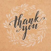 Kraft Paper Bags Bulk with Handles and Printed Thank-You Design for Gift NO BOWS image 2