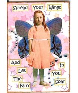 ACEO ATC Art Collage Women Ladies Girls Children Spread Wings Fairy Fairies - $5.00
