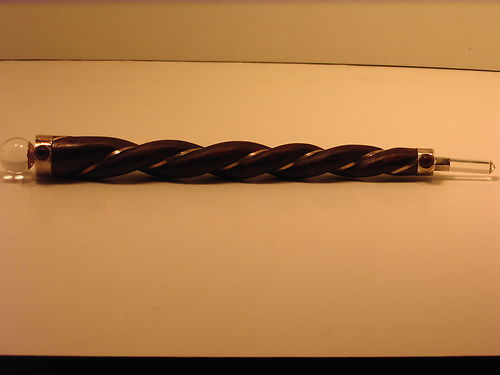 "Healing Wand - Twisted Wood with Sterling Silver - 9"" Long"