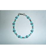 Handmade blue beaded bracelet - $7.00